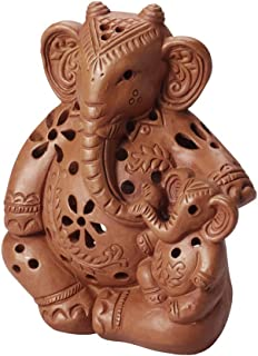 Kosh Terra Cotta Candle Holder 'Mama Elephant Candleholder'