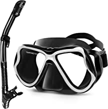 Greatever 2019 Newest Dry Snorkel Set,Panoramic Wide View,Anti-Fog Scuba Diving Mask,Easy Breathing and Professional Snorkeling Gear for Adults