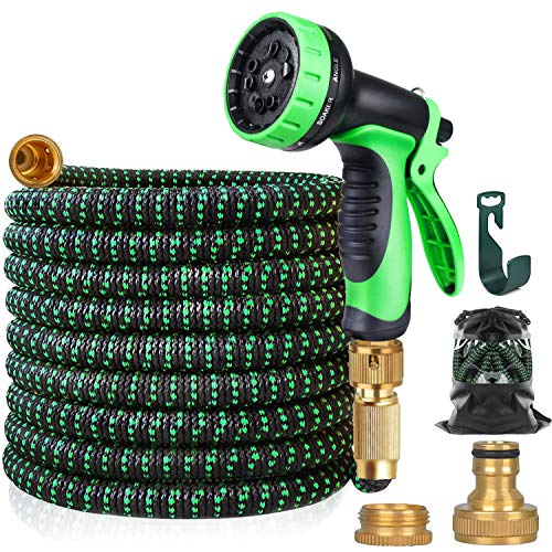 Expandable Garden Hose, Upgraded Lightweight Hose Pipe Made in 3 Layers of...