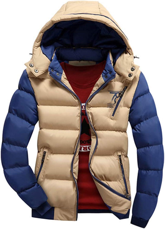 Panerasnt Men's Winter Warm Coat Jacket Coat Jacket Men Casual Hooded Cotton Jacket