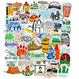 Wilderness Outdoor Stickers[50PCS], Nature Camping Stickers Hiking Travel Stickers for Teens, Waterproof Vinyl Stickers for Laptop Adventure Stickers Skateboard Stickers Decal