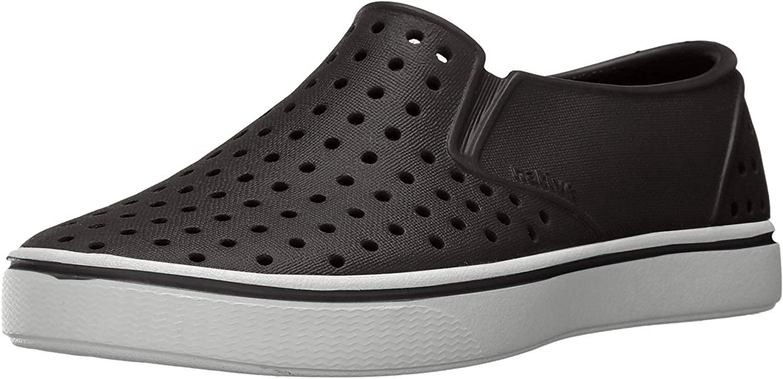 Native Shoes, Miles, Kids Shoe, Jiffy Black/Shell White, 9 M US Toddler