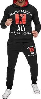 Mens Tracksuit Muhammad Ali Jogging Suit Basic Casual Streetwear Sport Gym Set Hoodie & Pants