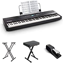 Alesis Recital Pro 88-Key Digital Piano with Padded Seat, St