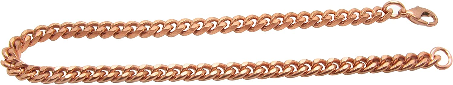 10 Inch Solid Copper Anklet CA707G-10AP - 3/16 of an inch Wide - Made in The USA