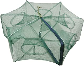 Baosity Foldable Fishing Crab Net Trap Cast Dip Cage Fish Prawn Lobster Shrimp Net