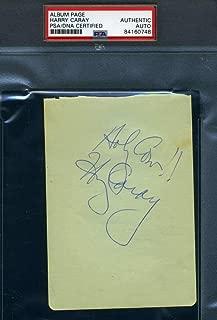 HARRY CARAY PSA DNA Autograph Vintage Album Page Authentic Hand Signed