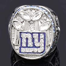 AJZYX 2011 New York Giants Super Bowl NFL Football World Champion Ring Souvenir for Fans Size 10-14