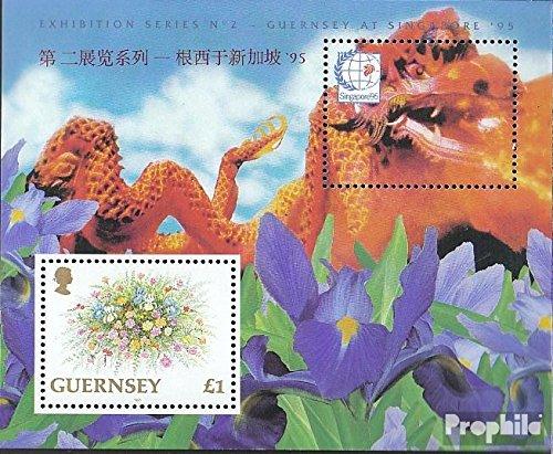 Prophila Collection GB - Guernsey Block15 (kompl.Ausg.) 1995 Blumen (Briefmarken für Sammler) Pflanzen
