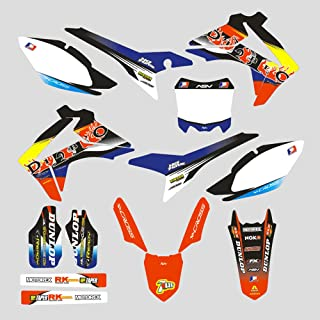 JFG RACING Customize Motorcycle Complete Adhesive Decals Stickers Graphics Kit For For Honda CRF450R 13-16