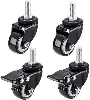 Roulettes Fauteuil de Bureau10mm /8mm Wheels Fauteuil de Bureau Fileté M8 / M10 200KG Roues Pivotantes Roues avec Frein R...