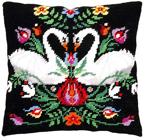 Vervaco Gobelin–Cojín Zara, Stick de vorgezeichnet Stick Paquete, vorbeze Cumple, algodón, Multicolor, 40x 40x 0,3cm