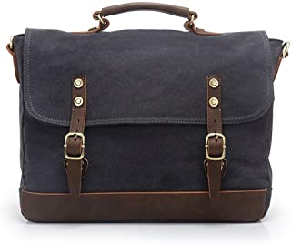 Mens Bag Holder for Men Business Office Canvas European Style Briefcase Shoulder Messenger Crossbody Satchel Casual Bag High capacity