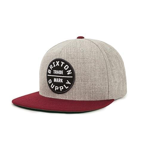 bd25e2436d6 Brixton Men s Oath Iii Medium Profile Adjustable Snapback Hat