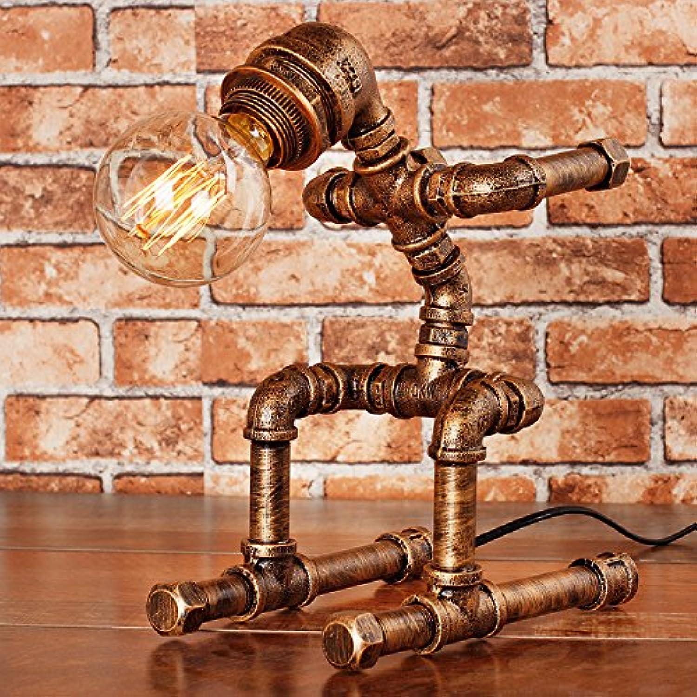 YU-K Roboter kreative Bügeleisen Wasser Rohr Tischlampe Retro Industrie Edison die Glühbirne Ski Modellierung Studie Bar Cafe Dimmer, 03. B07417HD95 | Feinen Qualität
