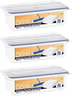 Bona Hardwood Floor Wet Cleaning Pads, 12 count - 3 Pack