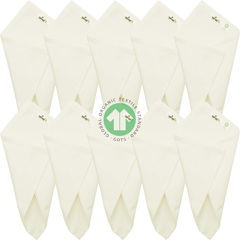 100% Organic Cotton Handkerchief for Men, Soft, Hankie Set, Natural Color