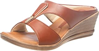 Khadims Women Tan Heel Sandal