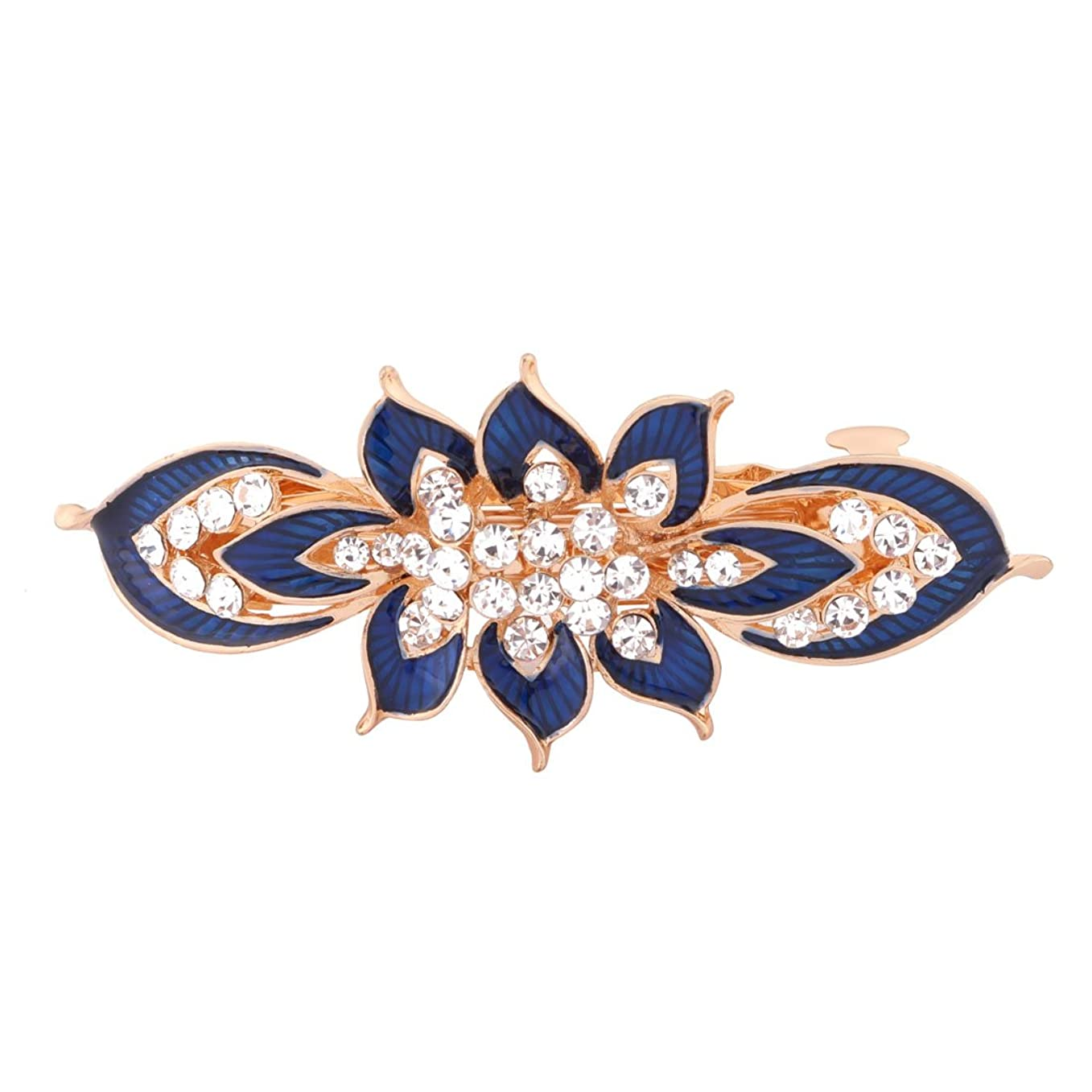 機関車オアシス表面uxcell  ヘアクリップ メタル製 ブルー フレンチクラスプ レトロスタイルヘアピン