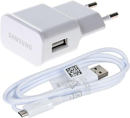 Carica Batteria a Muro Samsung ETAU90EWE ETA-U90EWE da Viaggio in Bulk Pack con Cavo Micro USB Bianco