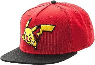 Bioworld Pokemon Pikachu Color Block Snapback Hat Red