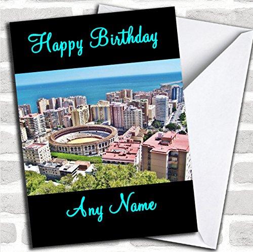 Malaga Aangepaste Verjaardag Groeten Kaart- Verjaardagskaarten/Landen & Plaatsen Kaarten