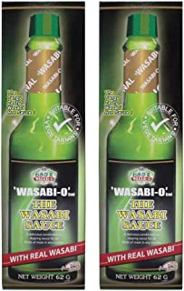Wasabi Sauce 62 g (2.19 Oz.) with Real wasabi - 2 Pack Dipping with Sushi, Salmon, and Seafood - Fancy Housewarming Gift or Great Fever Gifts