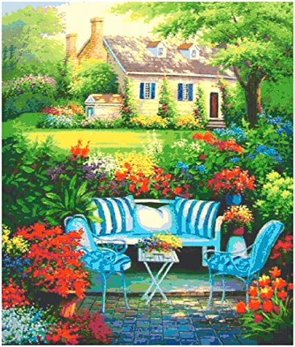 cross stitch pattern: Dream Home 16| Counted Cross Stitch Patterns - Printable Chart PDF Format Needlework Embroidery Crafts DIY DMC color Kindle Edition (English Edition)