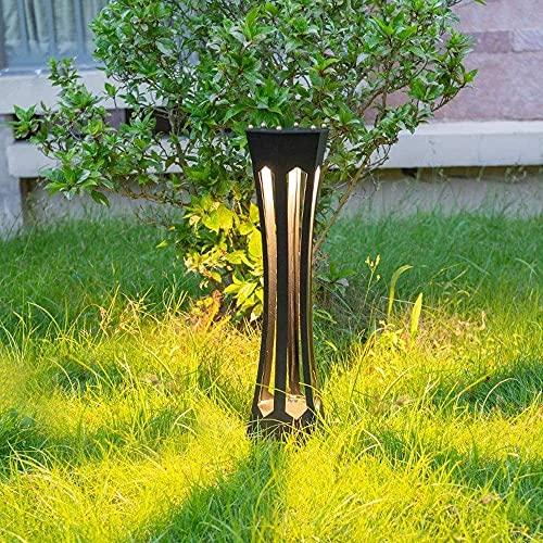 Impermeable IP55 Luz de jardín al aire libre Lámpara de césped de piso de calle Linterna de pilar Camino creativo Lámpara de poste de poste de poste alto Acabado negro Lámpara de columna de paisaje de