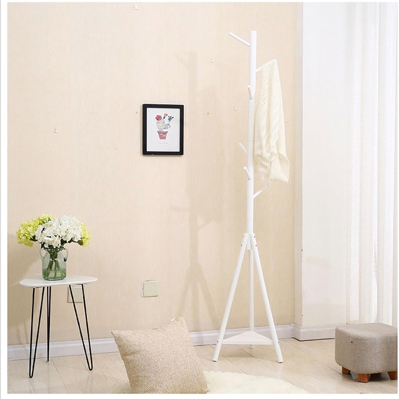 Solid Wood Coat Rack Multifunctional Bedroom Clothes Rack Creative Hat Rack Floor Hanger (color   C)