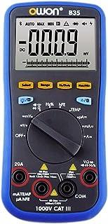 OWON B35T+ デジタルマルチメーター Bluetooth対応 オフラインロギング True RMS バックライト …
