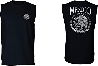 VICES AND VIRTUESS Hecho En Mexico Mexican Flag Coat of Arms Escudo Mexicano Men's Muscle Tank Top Sleeveless t Shirt
