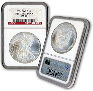 2006 American Silver Eagle $1 MS69 NGC First Strikes