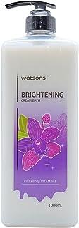 Watsons Brightening Cream Bath, Orchid & Vitamin E - 1000ml