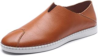 Fashion Loafer Flats Summer Outdoor Shoes Casual Loafers for Men Slip on Style Genuine Leather Stitching Shoes Anti-Colli...
