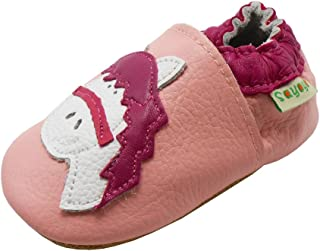 Sayoyo Baby Horse Soft Sole Pink Leather Infant and Toddler Shoes 12-18Months