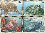 Prophila Collection Naciones Unidas - Ginebra 588-591 Bloque de Cuatro (Completa.edición.) 2008 en Peligro de extinción Especies: Fauna Marina (Sellos para los coleccionistas) Los Animales acuáticos