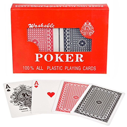 Royal 100% plastic poker cards cartes en plastique cartes à jouer jeu de cartes double jeu