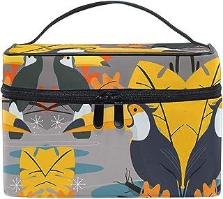 Bolsa de cosméticos Cool Cute Parrot Bird Makeup Bag para mujeres Bolsa de cosméticos Toiletry Train Case