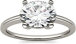 Forever One Oval 9x7mm Moissanite Engagement Ring, 2.10ct DEW (D-E-F) by Charles & Colvard