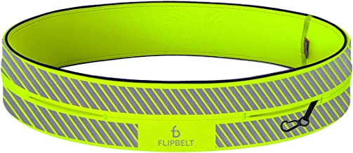 FlipBelt Reflective Running Belt Reflective Neon Yellow, Extra Large