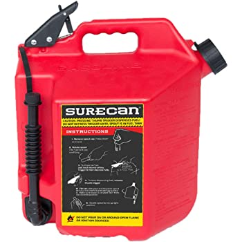 2 Pack SureCan Self Venting Easy Pour 2.2 Gallon Flow Control Gas Container