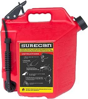 Surecan CRSUR5G1 Gasoline CAN, 5.0 Gallon, Red