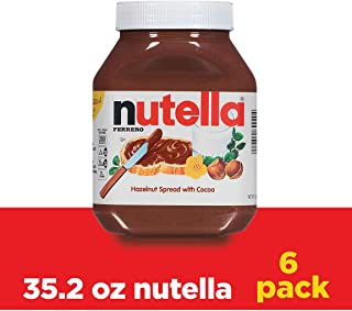 Nutella Chocolate Hazelnut Spread, 35.2 Ounce, Pack of 6