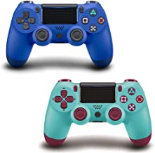 $46 » Wireless Game Controller for PS4 with Dual Vibration, Compatible with PS4/Pro/Slim/Windows PC/Android ( Blue & Berry Blue )