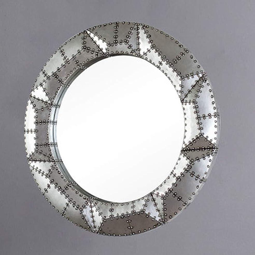 安いです残基しなやかミラーロフト産業風バーの装飾カフェレストランの壁飾り浴室装飾鏡をぶら下げアメリカンシルバー樹脂丸アーマー JZ11/3