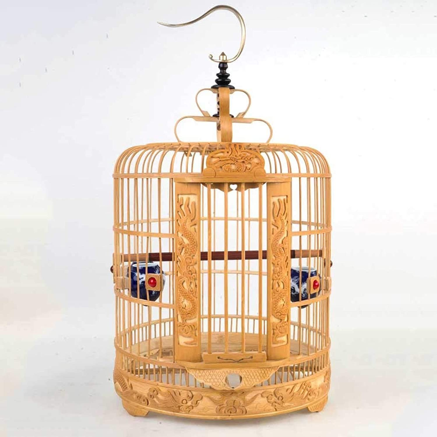 Bamboo Bird Carrier Bird Culture Cage Outdoor, Classic Upgrade Hanging Flight Cage Indoor Bird Cage Can Hang Parred Cage, Suitable For Parred Bird Bird