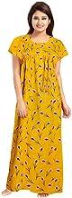 YUKATA Womens Cotton Printed Nighty, Free Size(Y.Y) Yellow