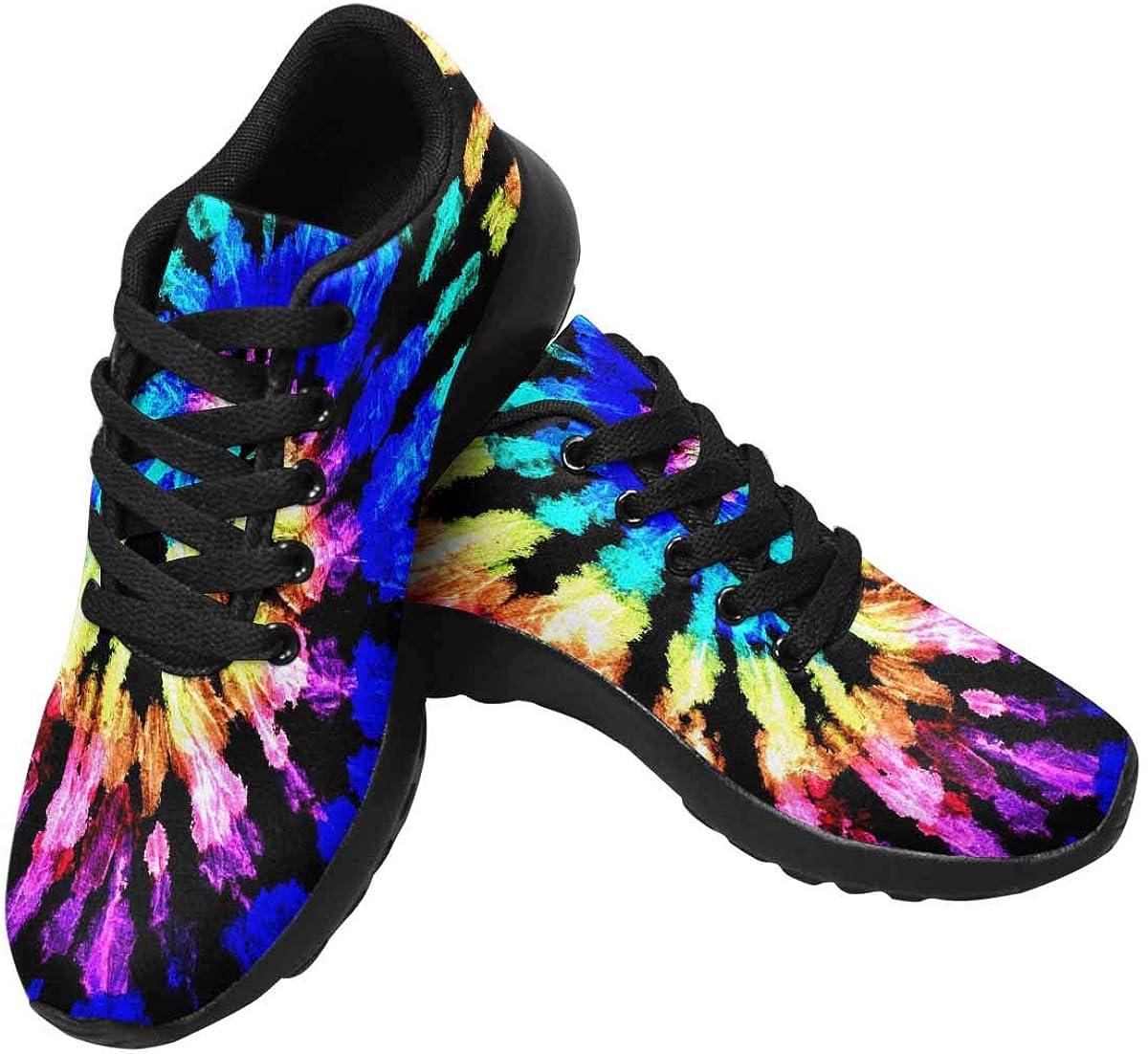 InterestPrint Inexpensive Tie Dye Phoenix Mall Pattern Women's Casual Shoes - Running Bre