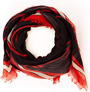 Givenchy Women's Black Red Cashmere Silk Fringe Scarf Multiple Styles